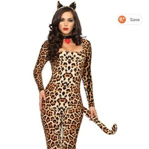 3 Piece Sexy Cougar Cat Halloween Costume